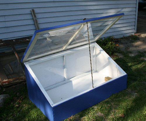 blue cold frame