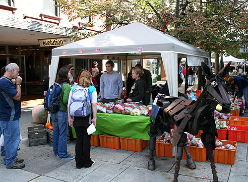 grad student booth at apple fest