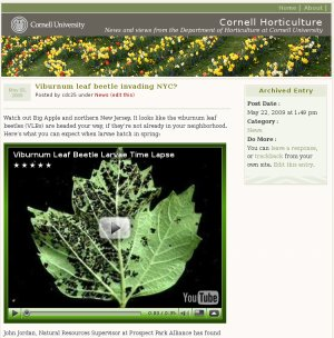 hort blog screenshot