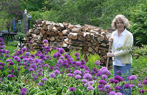 marcia with alliums