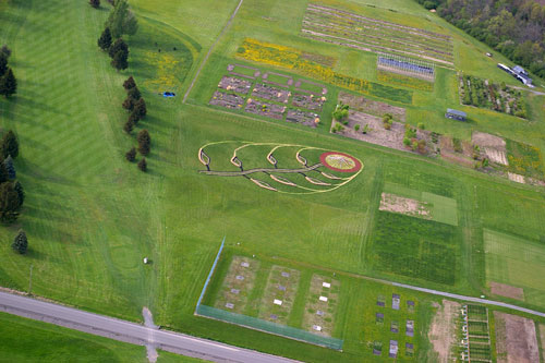 Turfwork! from the air. Photo by Peter Cadieux